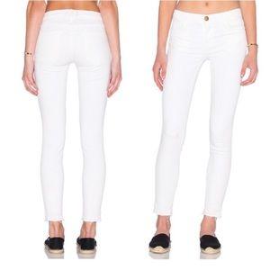 "CURRENT / ELLIOTT ""The Stiletto Sugar"" White Jeans"